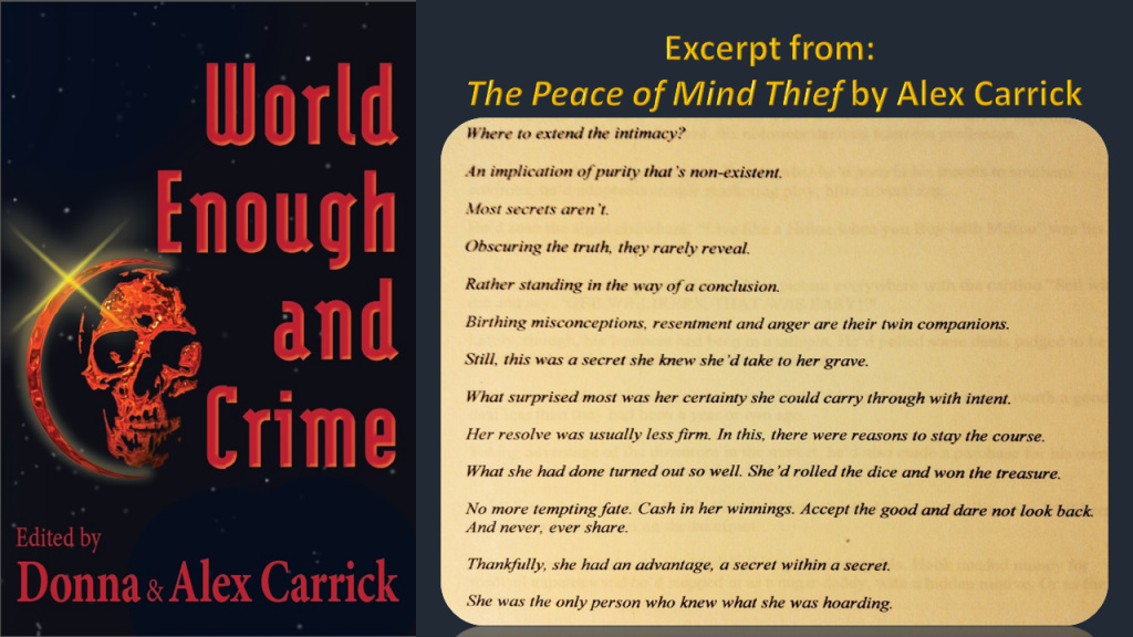 EFD2 - World Enough EXCERPTS Carrick Alex